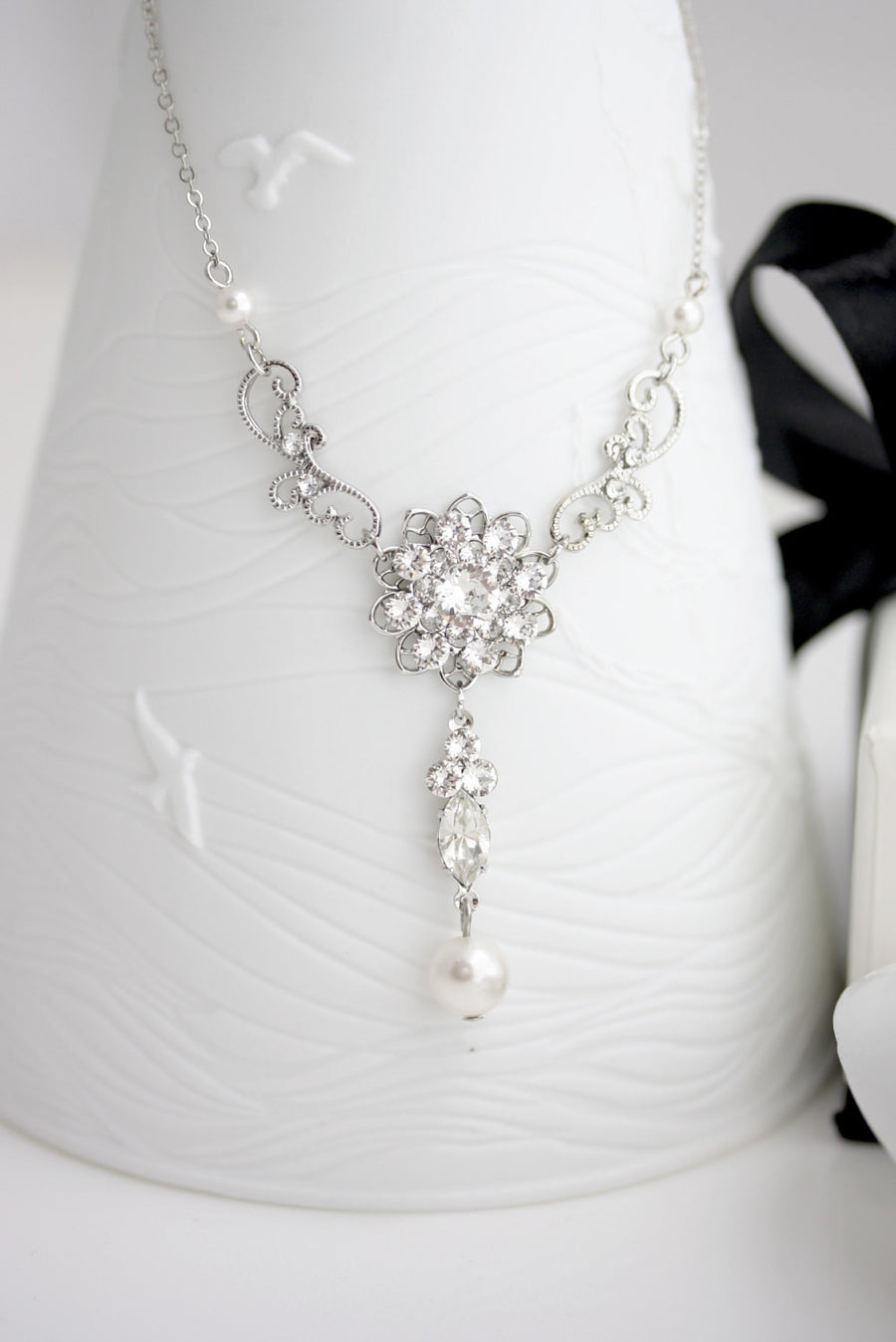 CARA CRYSTAL WEDDING NECKLACE - Lulu Splendor