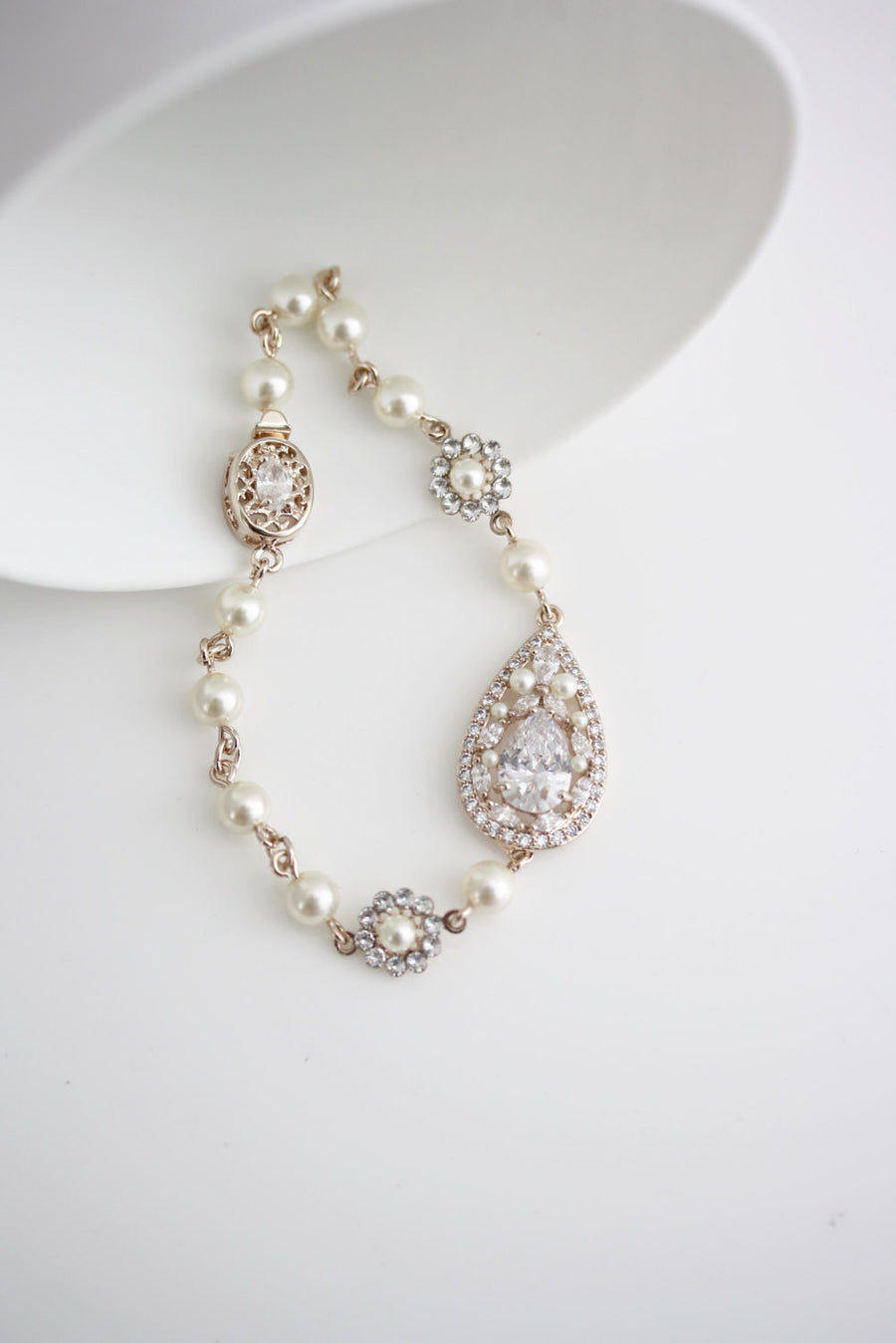 Vivienne Crystal Gold Wedding Bracelet