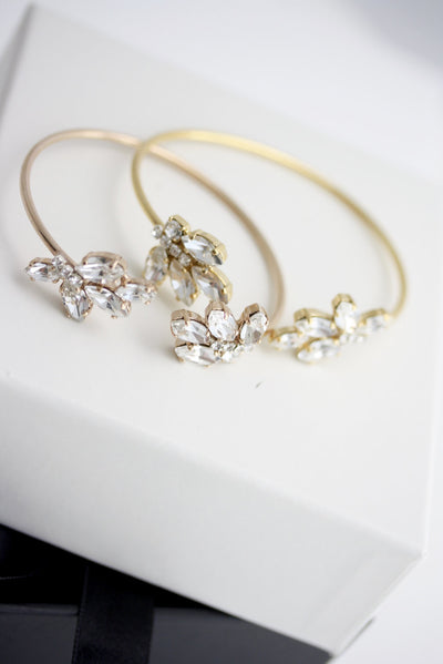 Sophie Gold Crystal Wedding Cuff