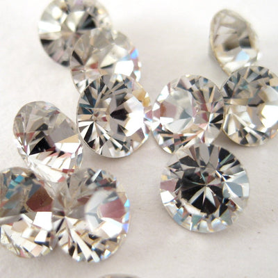 Penny Crystal Teardrop Plugs 8mm 00 Gauge Wedding Earrings - Lulu Splendor