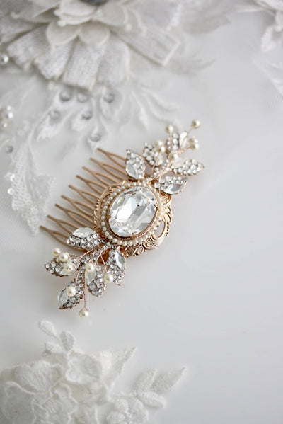 Ryan Crystal Bridal Hair Comb - Lulu Splendor