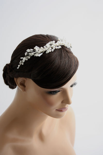 Ireland Bridal Beaded Hair Vine - Lulu Splendor