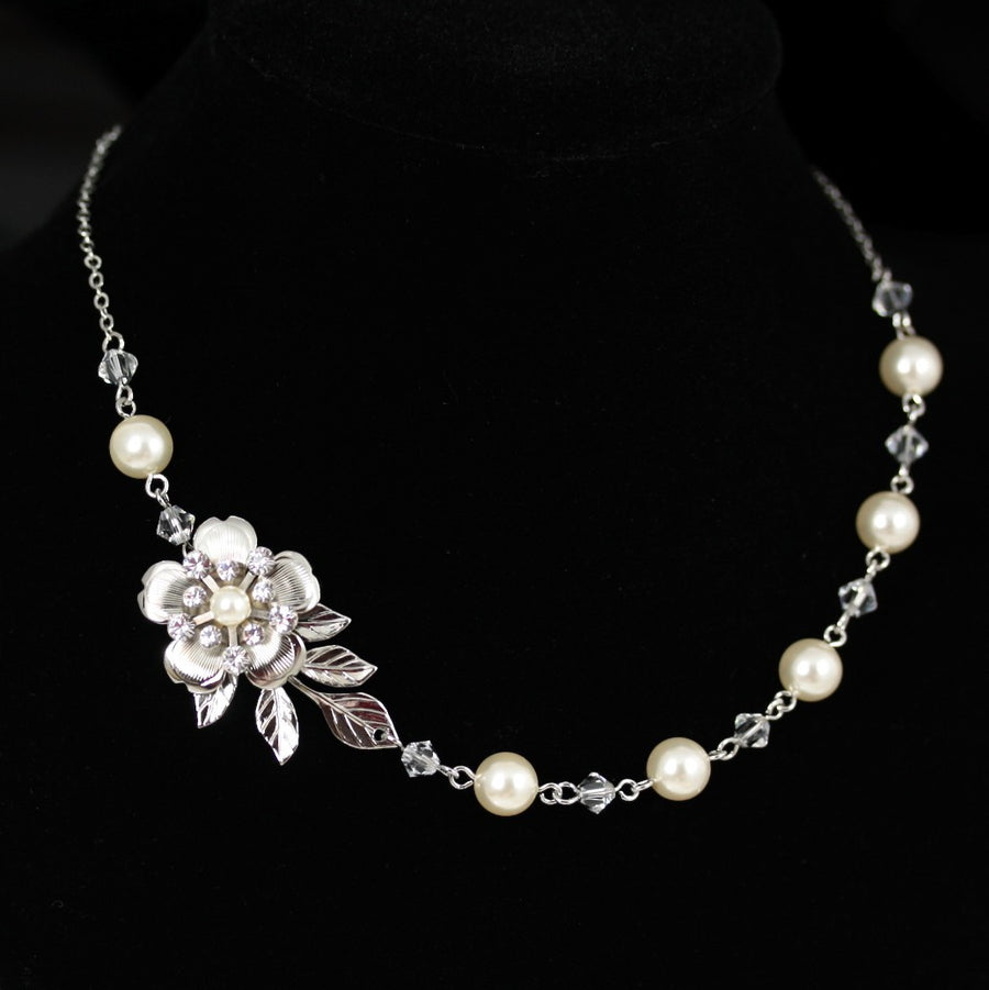 LISSE DELICATE WEDDING NECKLACE - Lulu Splendor