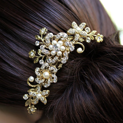 Sabine Crystal And Pearl Wedding Comb