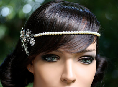 Ivy Gold Leaf Bridal Head Band - Lulu Splendor