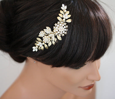 IVY WEDDING HAIR COMB - Lulu Splendor