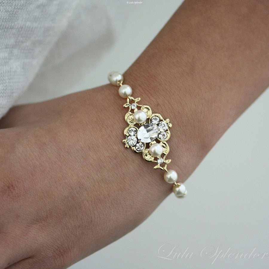 Leila Gold Wedding Bracelet - Lulu Splendor