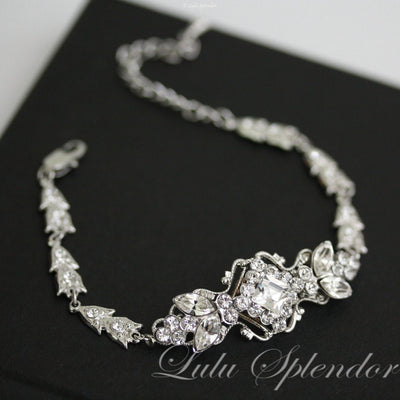Katrina Art Deco Wedding Bracelet - Lulu Splendor