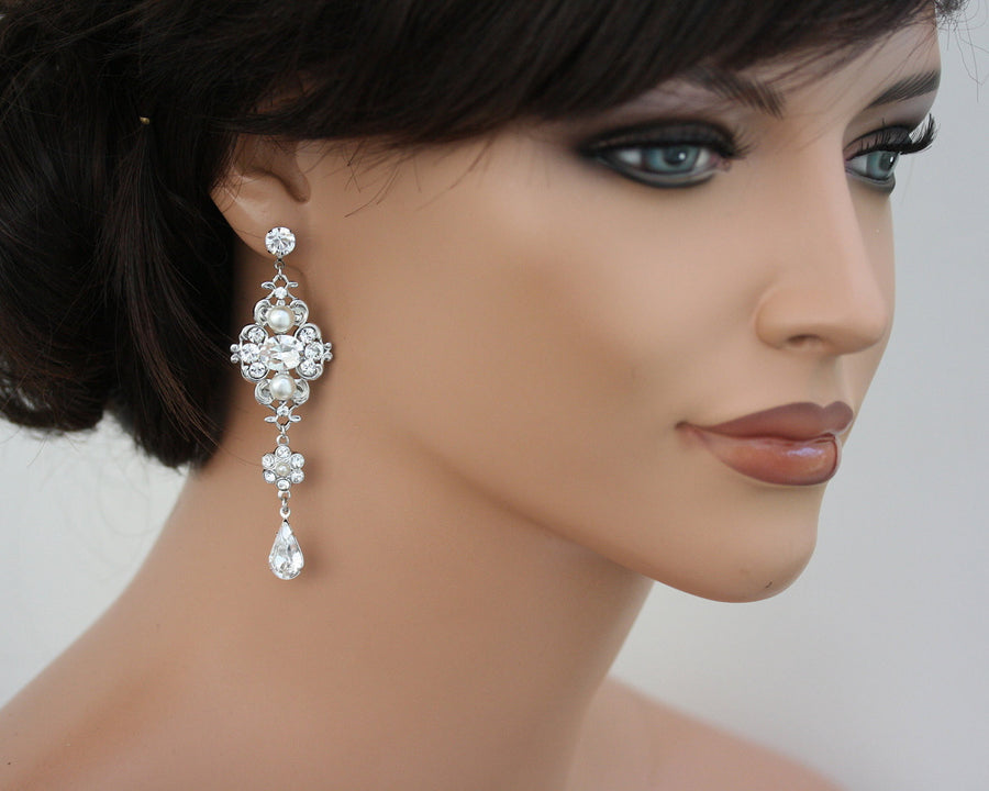 LEILA GRAND WEDDING EARRINGS