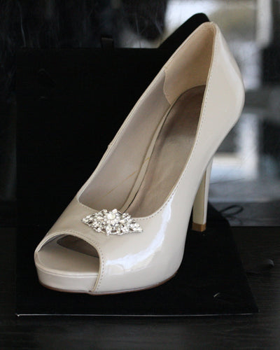 Marcella Silver Bridal Shoe Clips - Lulu Splendor