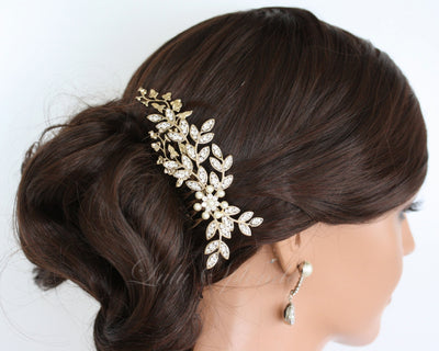 NEVE BRIDAL HAIR COMB - Lulu Splendor