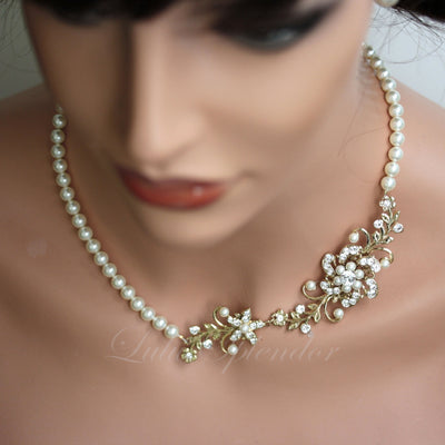 Sabine Garden Golden Bridal Necklet