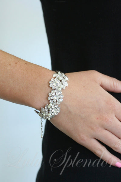 Mier Crystal Wedding Cuff - Lulu Splendor