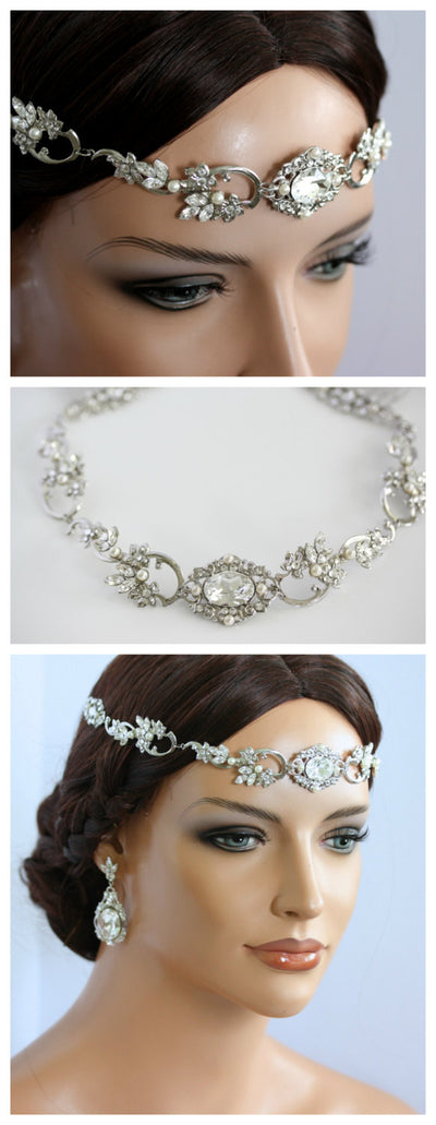 Ryan Crystal Showstopper Bridal Headpiece