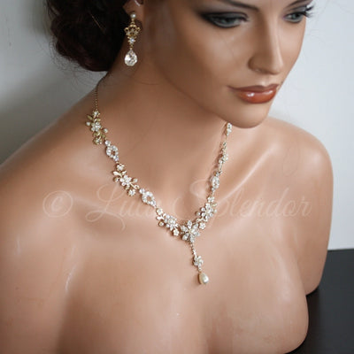 Amy Crystal Bridal Necklace - Lulu Splendor