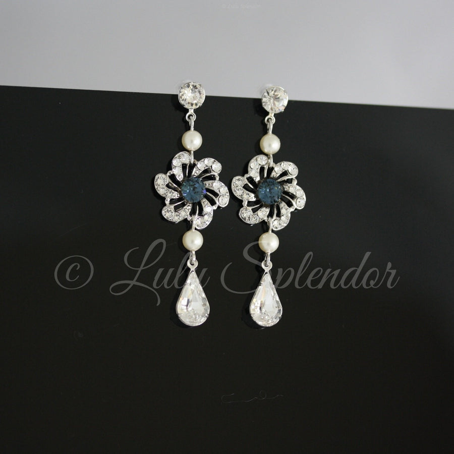Sabine Long Bridal Earrings