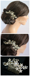 Sabine 2 Crystal Flower Wedding Comb