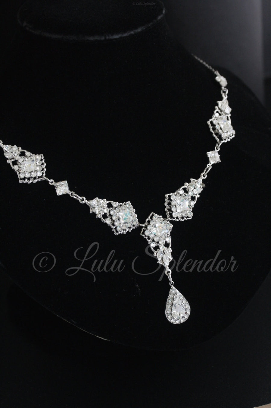 Katrina Bridal Necklace Crystal - Lulu Splendor