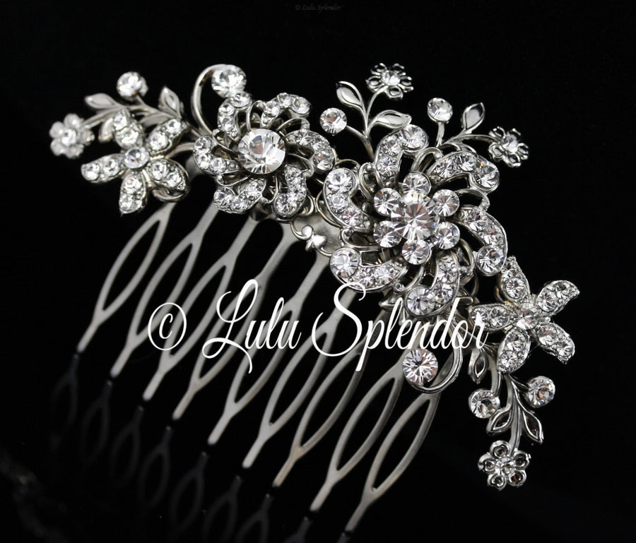 Sabine Crystal And Pearl Bridal Hair Comb