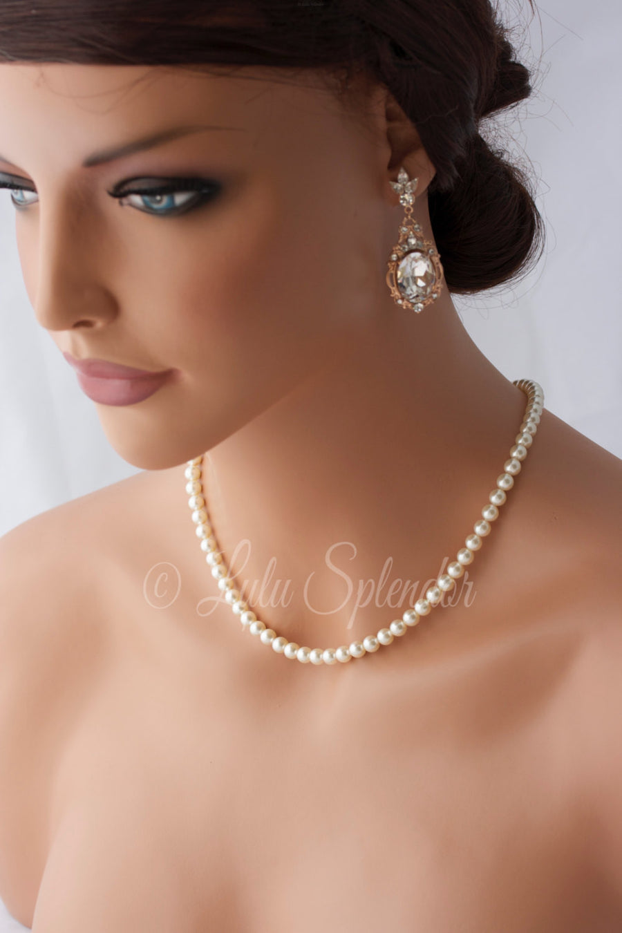 Amelia Back Drop Bridal Necklace