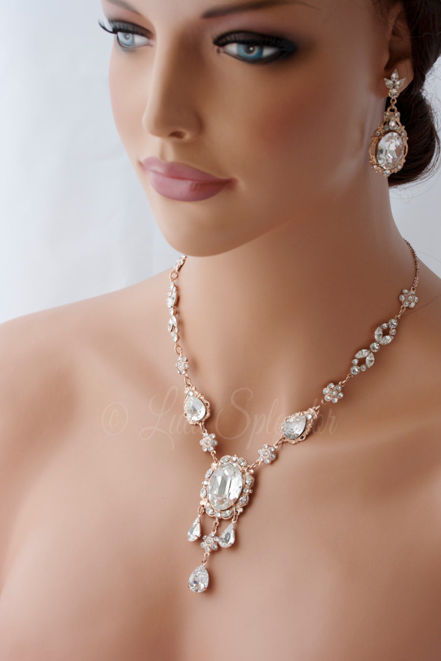 Ryan Deluxe Rose Gold Wedding Necklace