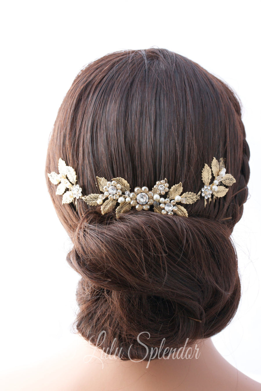 Stacey Gold Wedding Headpiece