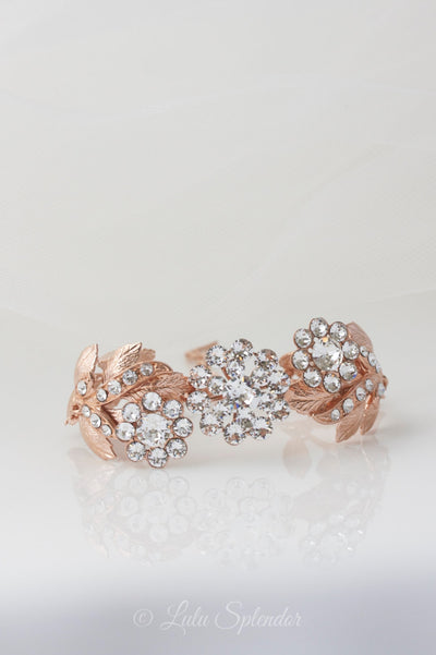 Mier Rose Gold Wedding Bracelet - Lulu Splendor