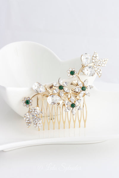 AUBURY CRYSTAL BRIDAL HAIR COMB