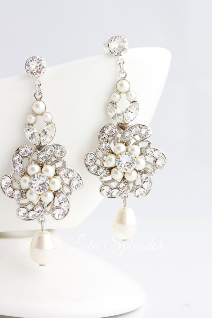 CLASSIC SABINE BRIDAL EARRINGS - Lulu Splendor