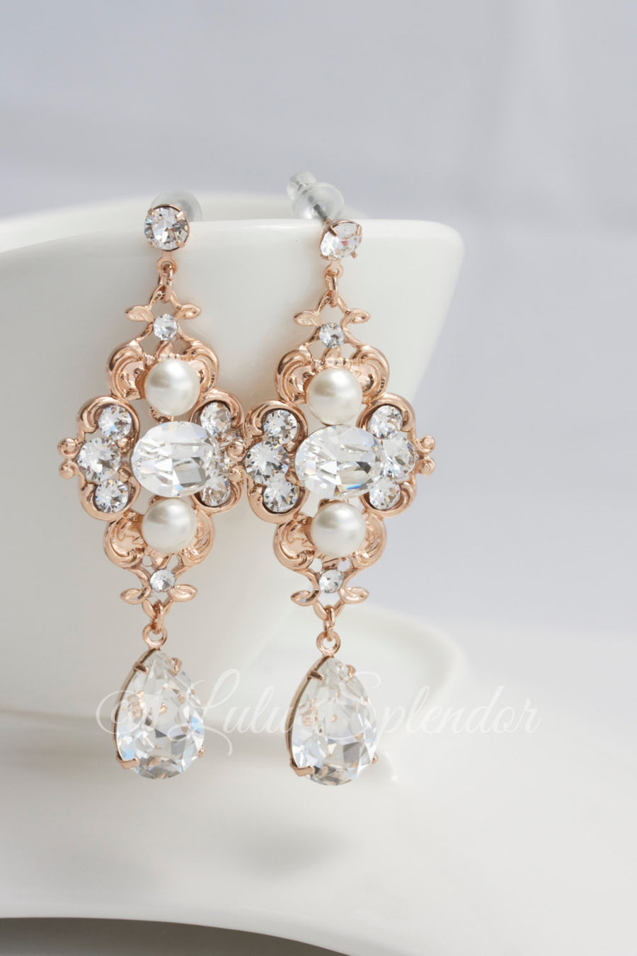 LEILA DELUXE BRIDAL EARRINGS - Lulu Splendor