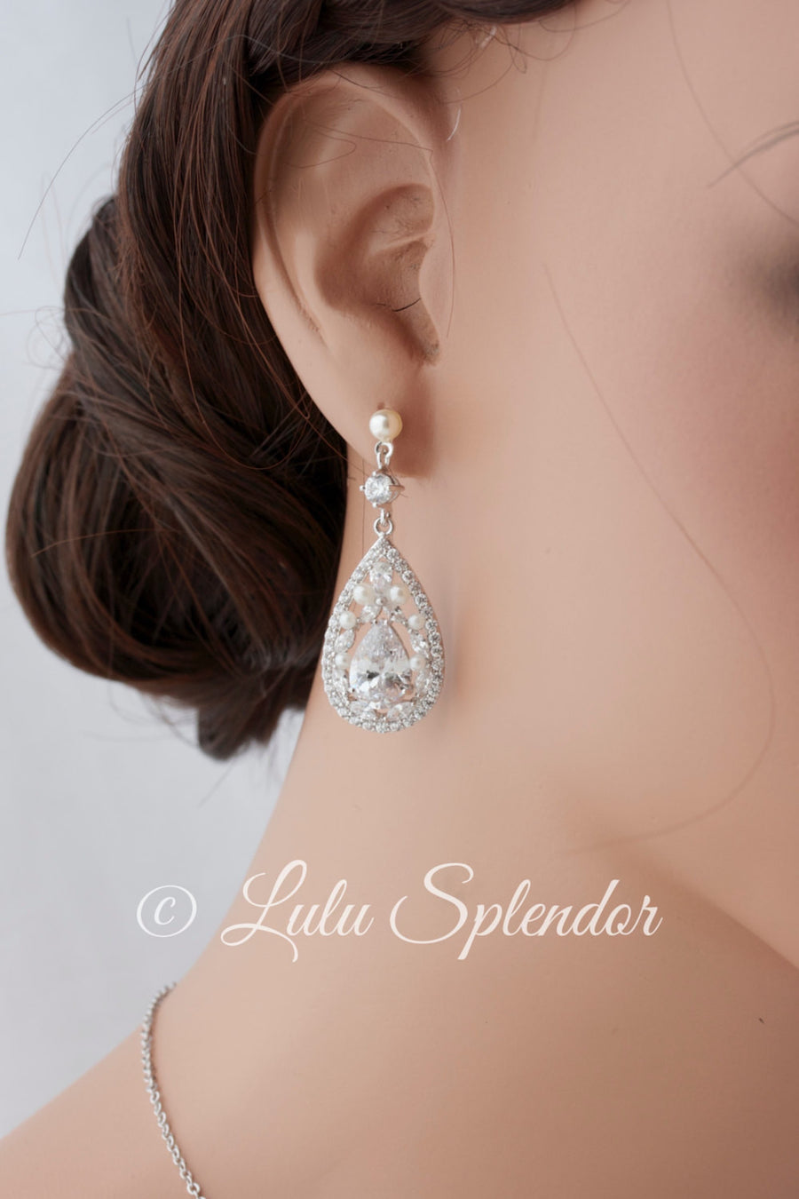 Tara Crystal Bridal Earrings