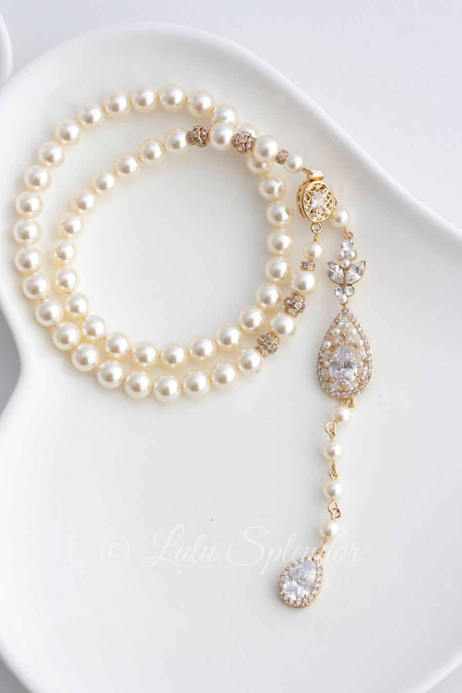 Vivienne Backdrop Bridal Necklace