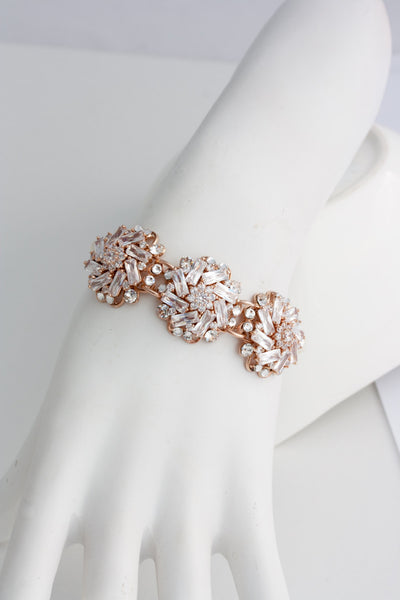 Sonnet Classic Rose Gold Wedding Bracelet