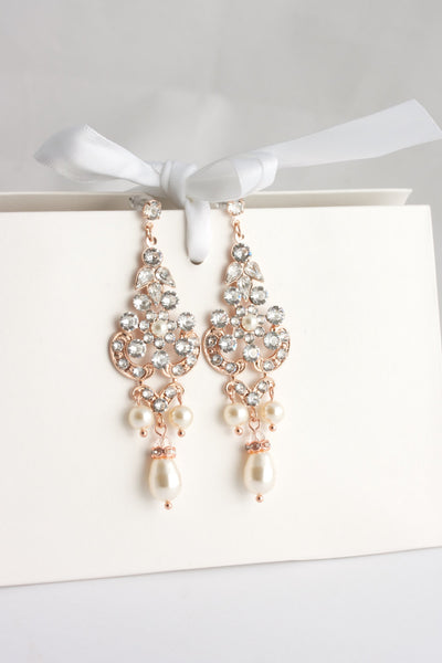 Celeste Chandelier Wedding Earrings - Lulu Splendor