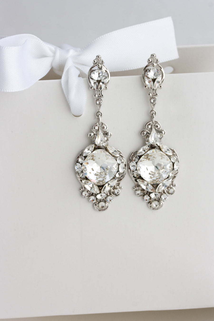 Estella Crystal Bridal Earrings - Lulu Splendor