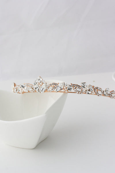 Aggie Gold Wedding Tiara - Lulu Splendor