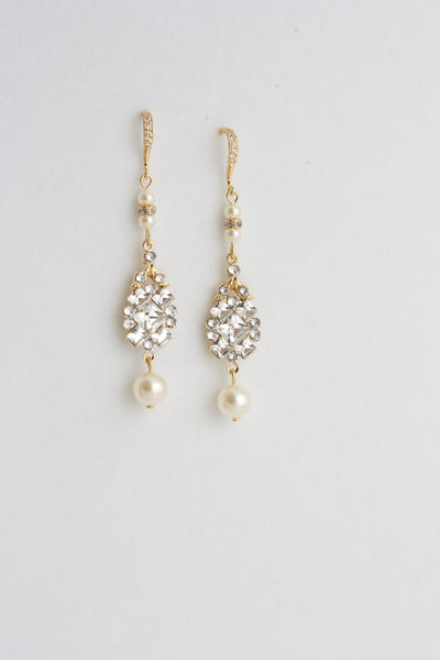 Anna Gold Wedding Earrings - Lulu Splendor