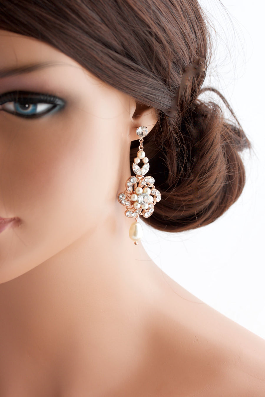 Sabine Classic Silver Wedding Earrings
