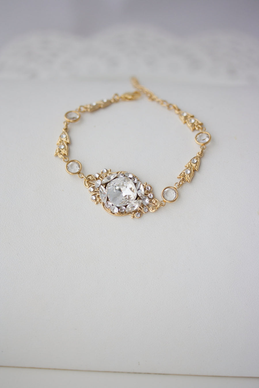 Estella Gold Bridal Bracelet - Lulu Splendor