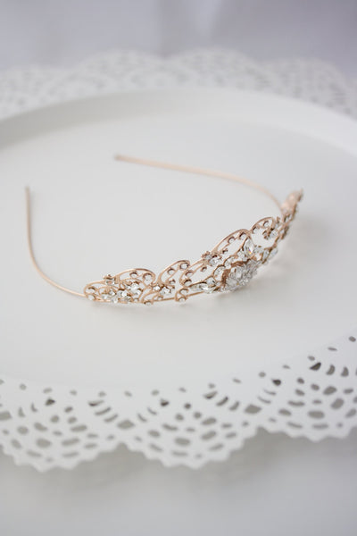 Sonnet Rose Gold Bridal Tiara