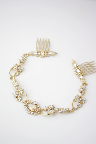 Ryan Gold Bridal Headband - Lulu Splendor