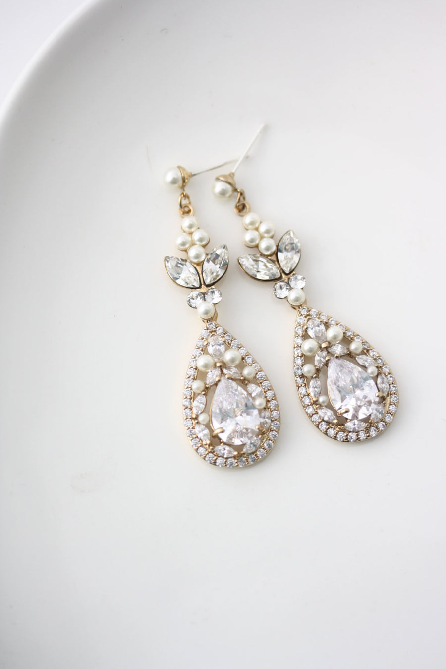 Vivienne Gold Wedding Earrings