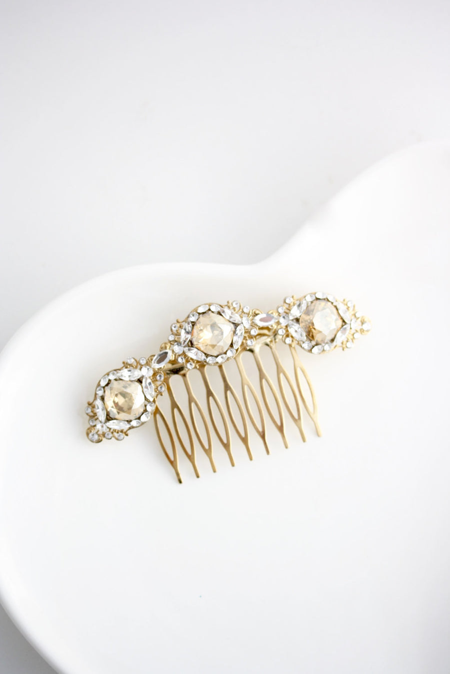 Estella Crystal Bridal Hair Comb - Lulu Splendor