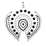 Bijoux Indscrets Flamboyant Body Jewelery Black And Silver
