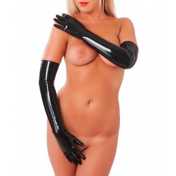 Rubber Secrets Long Gloves-Small