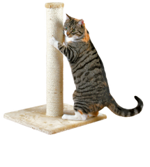 "PAWMONA Scratching Post 32"" - Jumbo Scratching Post with Natural Sisal Wrapping -Extra Thick and Tall Scratching Post: for Climbing and Scratching"