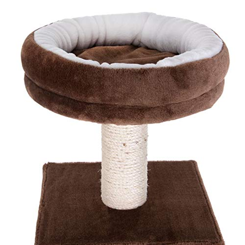 PAWMONA Multi-Level Cat Tree Tower with Sisal-Covered Scratching Posts, Plush Perches and Condo for Cats and Kittens 65