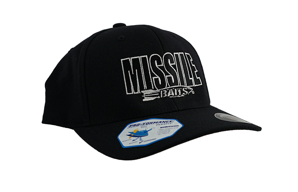Missile Baits - Limited Edition Flexfit Hat - Black - Missile Baits - best bass lure
