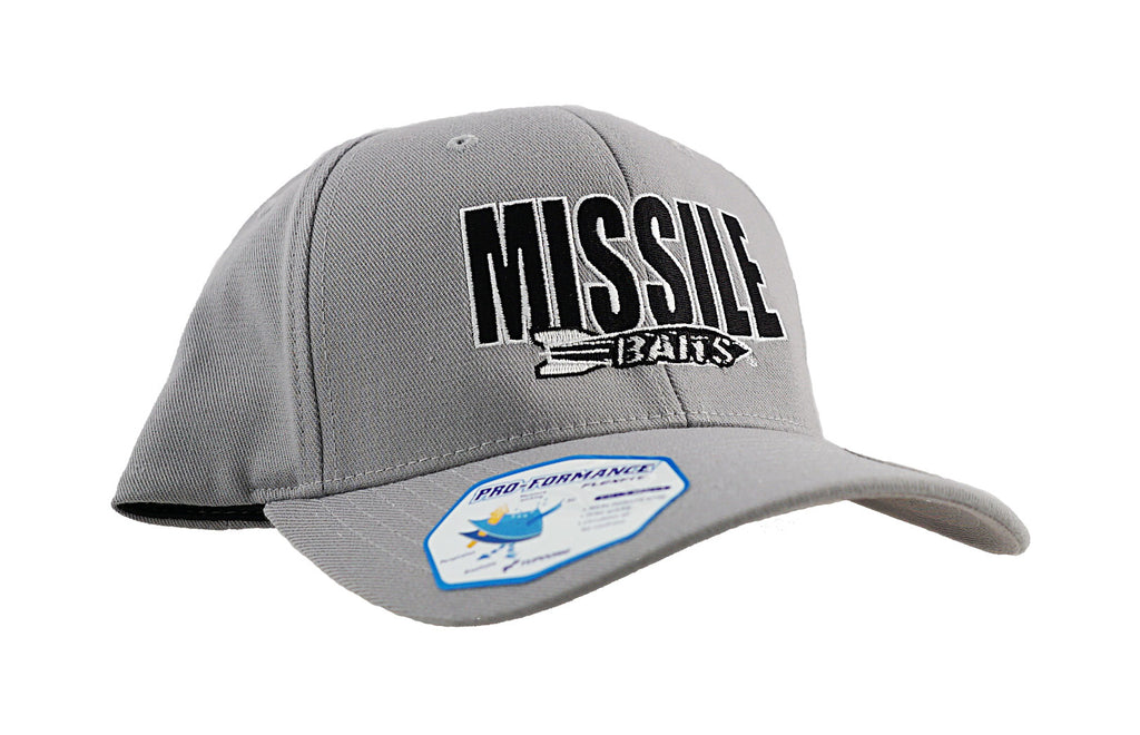 Missile Baits Grey Flexfit Hat - Missile Baits - best bass lure