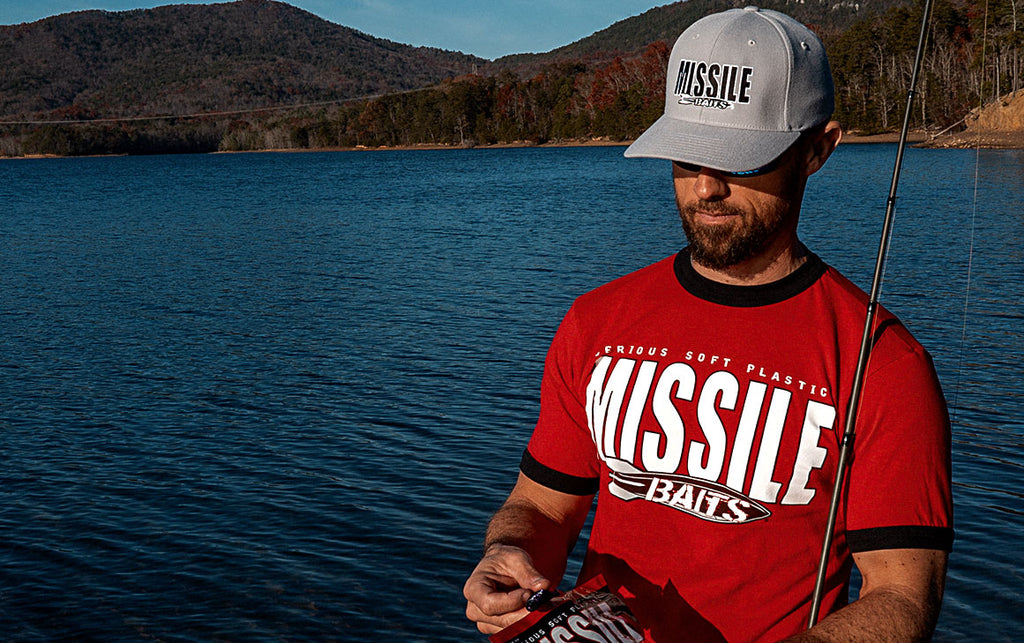 Missile Baits - RED - Made in the USA - Ringer T-Shirt - Missile Baits - best bass lure